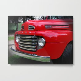 the old red ford truck Metal Print