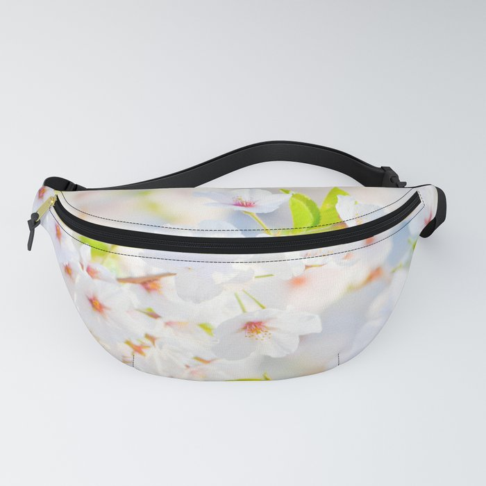 White Flowers Fanny Pack