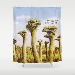 Dont you just hate Golfers Shower Curtain