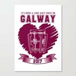 All Ireland Senior Hurling Champions: Galway (White/Maroon) Canvas Print