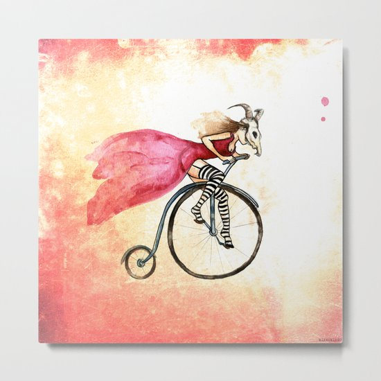 Penny Girl Metal Print