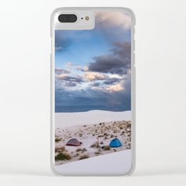 Camping Among the White Sand Dunes in New Mexico Clear iPhone Case
