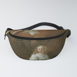 Christ holding the English flag Fanny Pack