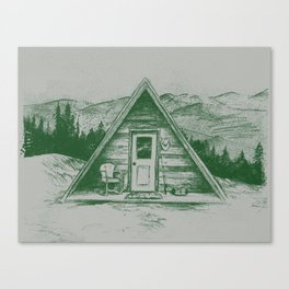 Tiny Cabin on the Mountain Canvas Print