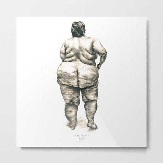Woman in Shower Metal Print