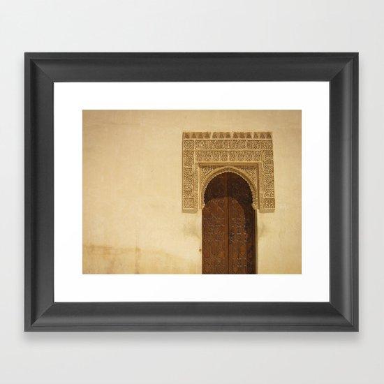 Moor Door Framed Art Print