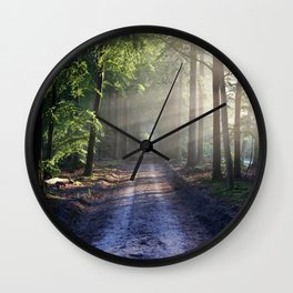 All roads lead to adventure Wall Clock