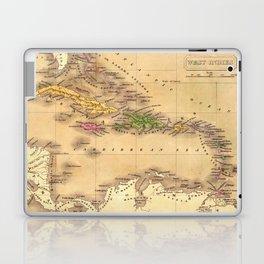 Map Of The Caribbean 1828 Laptop & iPad Skin