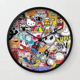 JDM Sticker Bomb Wall Clock