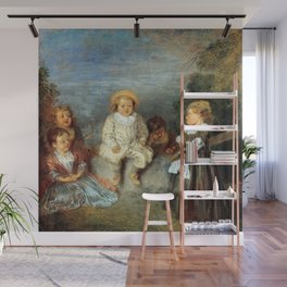 "Antoine Watteau ""Heureux age! Age d'or (Happy Age! Golden Age)"" Wall Mural"