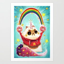Donut Power! Art Print