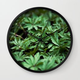Buttercup Leaves Wall Clock
