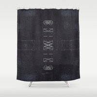 chaos Shower Curtains featuring Chaos by Jane Lacey Smith