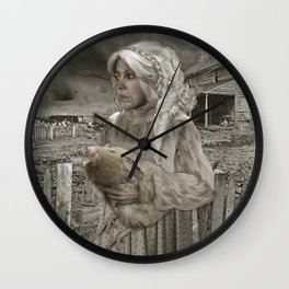 Aunt Em in Kansas (detail) Wall Clock