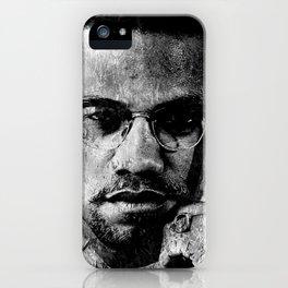 MALCOLM X (BLACK & WHITE VERSION) iPhone Case