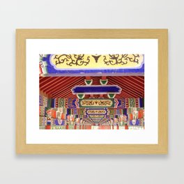 Covered Walkway, Hebei Province, China Framed Art Print