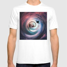 Somewhere In Time Mens Fitted Tee MEDIUM White
