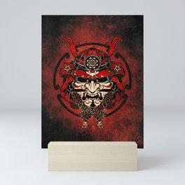 Samurai Mask, Budo, Bushido, Mini Art Print