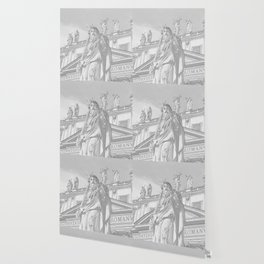 St Peter Rome in Pencil Wallpaper