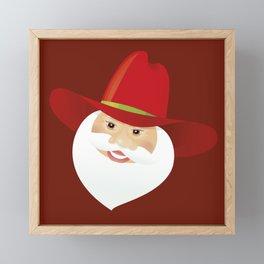 Santa Claus. Cowboy. Framed Mini Art Print