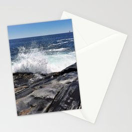 Waves Crashing on Pemaquid Point in Maine (1) Stationery Cards