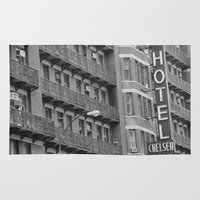 chelsea Area & Throw Rugs featuring Chelsea Hotel by Maria Karas