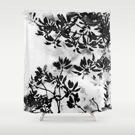 Contrast Botanical Shower Curtain
