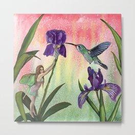 Iris Fairy Metal Print