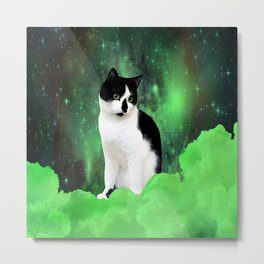 Gypsy Da Fleuky Cat and the Kitty Emerald Night Metal Print