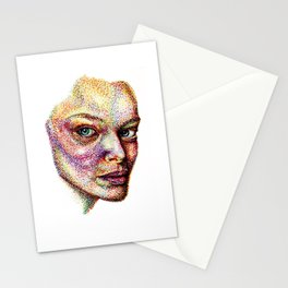 Face Pointed Out Stationery Cards