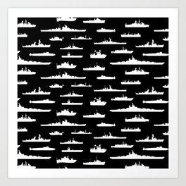 Battleship // Black Art Print