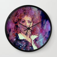 river song Wall Clocks featuring River Song by Sirenphotos