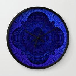 Cobalt Blue Faux Lace Filigree Wall Clock