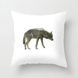 Shaggy wolf Throw Pillow