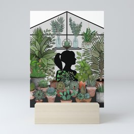 As For Me, I Will Hide Amongst the Plants Mini Art Print