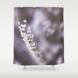 The Smallest White Flowers 02 Shower Curtain