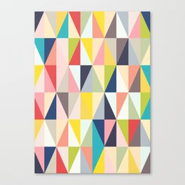 Abstract Geo Diamonds Canvas Print