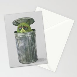 Grouchy Cat  Stationery Cards