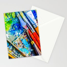 Palette And Brushes Stationery Cards