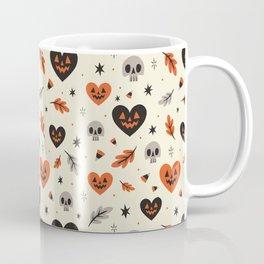 I Heart Fall Pattern Coffee Mug