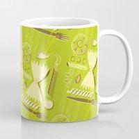 pasta Mugs featuring Pasta Pattern by Zoe Lotus