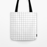 grid Tote Bags featuring Grid by STATE OF THE HEART