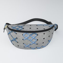 Giant Cross Stitch (Blue) Fanny Pack