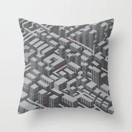 Brutalist Utopia Throw Pillow