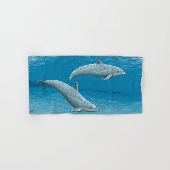 Sandscape Dolphins ~ Acrylic Hand & Bath Towel