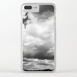 Grey Sky Clear iPhone Case