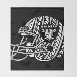 Polynesian Style Raiders Throw Blanket
