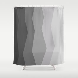 Cool Geometric Charcoal to Light Grey Ombre Shower Curtain
