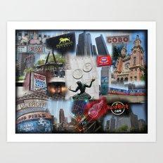 Detroit MI Art Print