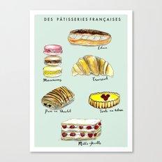Des Patisseries Francais Canvas Print